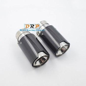 1 個車リアルカーボンファイバー排気ヒント Bmw 1 2 3 4 シリーズ M パフォーマンス排気管アップグレード m3 F80 M4 F82 F83 M5 F10 M6 F12