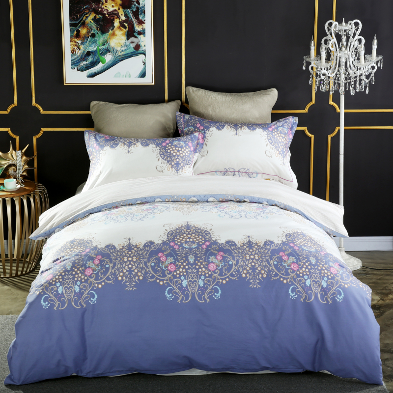 Luxury European style 3D Digital Printing 100% cotton Comfortable Bedding Set Duvet Cover Bed Linen Bed sheet Pillowcases 4pcs