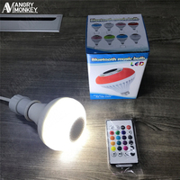 Wireless Bluetooth Speaker Bulb E27 Smart RGB RGBW Dimmable LED Music Player Audio Light Lamp With