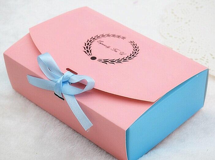 10pcs Large pink Muffin packaging 6 cupcake boxes ribbon paper gift cake box cupcake packing craft paper box big 6 cake pack box
