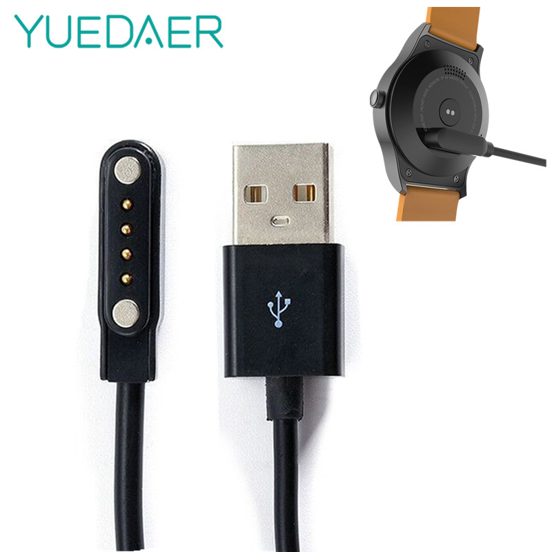 YUEDAER Universal Smart Watch Charger For KW88 KW18 GT88 G3 Smartwatch USB Power Charger Cable 4 Pin Magnetic Charging Cables