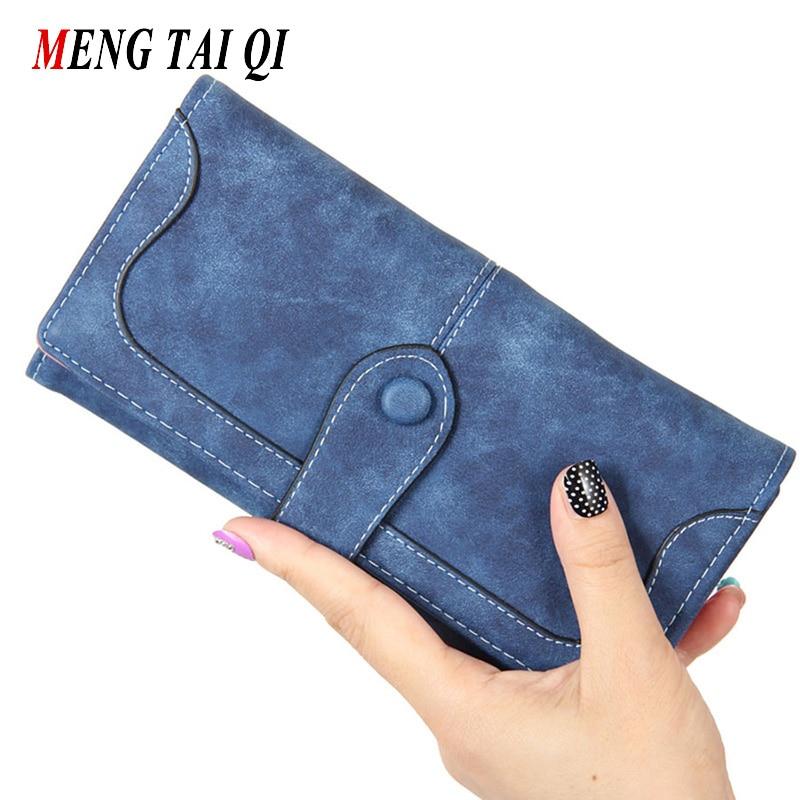 Wallet women luxury brand coin purse bag female clutch handbags hasp long wallets woman Nubuck leather fashion famous designer 5