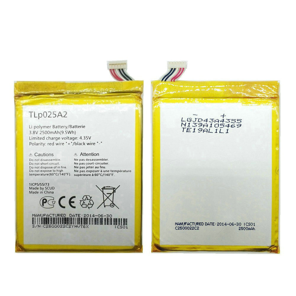 1pcs 100% High Quality 2500mAh Battery For Alcatel go play <font><b>7048x</b></font> phone image