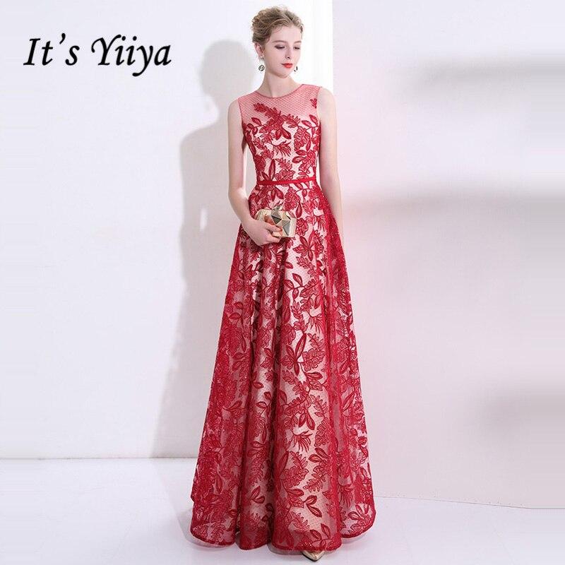 Es Yiiya 2018 Popular lujo elegante vestidos de noche famoso ...