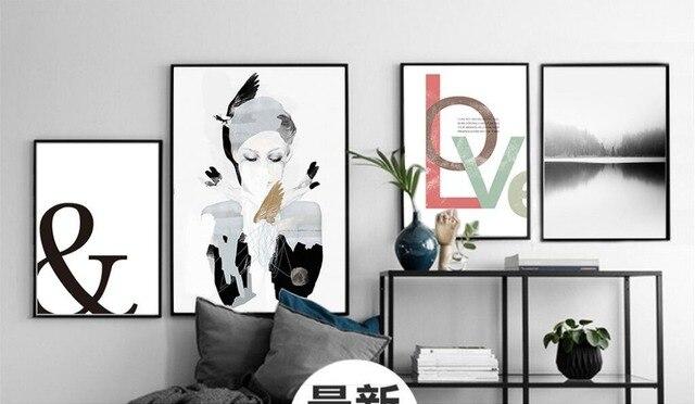 Modern fashion beauty women love print paint canvas cosmetics shop ...