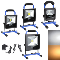 Blue Rechargeable LED Flood Lights 10W 20W 30W 50W IP66 LED Spotlight Refletor Outdoor Lighting Wall Lamp Floodlight
