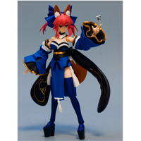 14.5CM Fate EXTRA Caster Anime Figure Figma 304 Tamamo No Mae Action Standing Posture Sexy Girl Dolls with Box F209