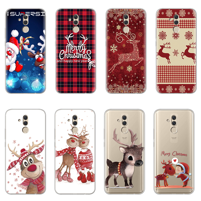 Merry Christmas TPU Soft Case For Huawei Mate 20 Lite Case accessories Silicon 6