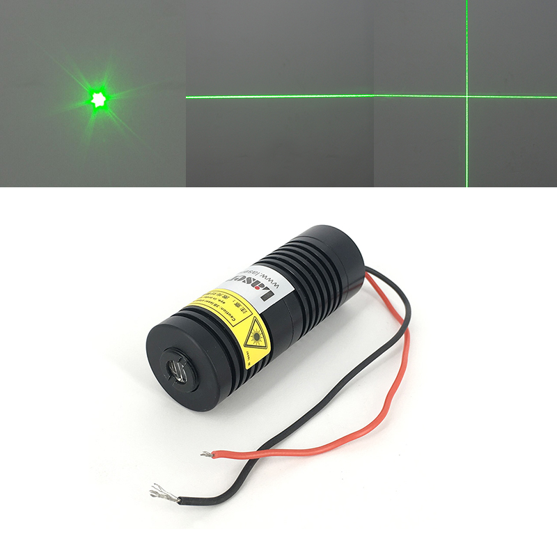 25*65mm 532nm Green Dot Line Cross Laser Diode Module 100mW 150-200mW with Glass Lens