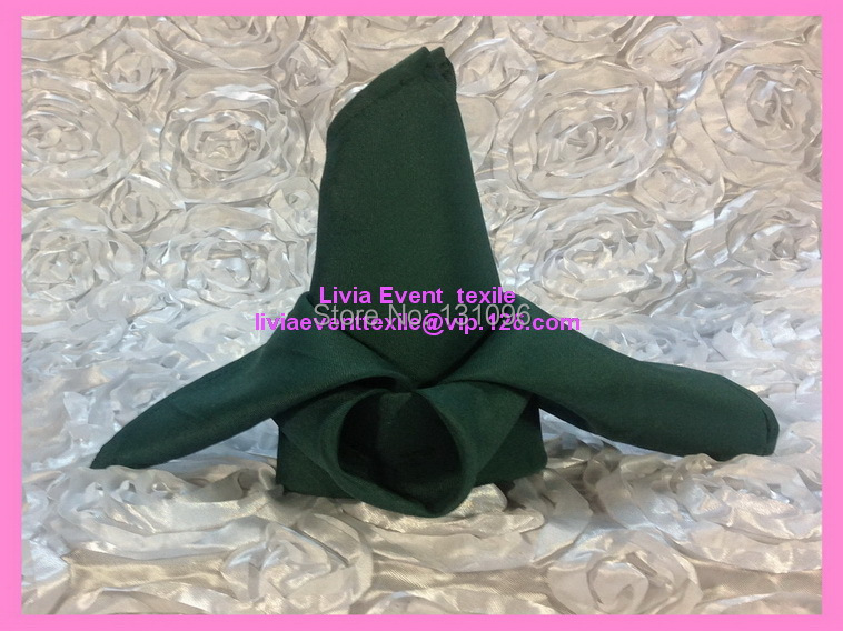 WholeSale 200pcs #11 Dark Green Polyester Plain Napkin 40x40cm ,Table Napkin For Weddings Events &Party&Restaurant &Hotel