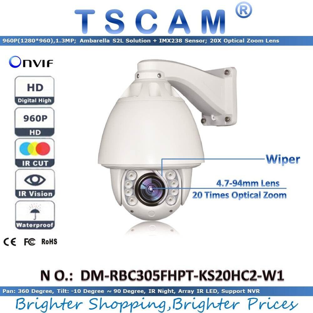 TSCAM new HD 960P 1 3MP DM RBC305FHPT KS20HC2 W1 Outdoor IR Speed Dome Camera 20X