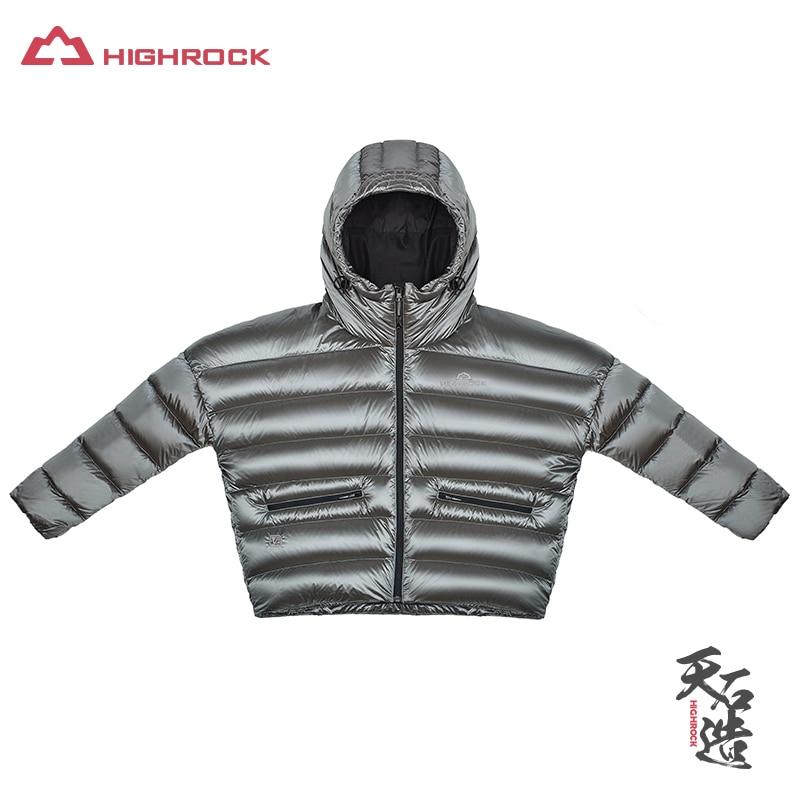 Highrock 2017 Vrouwen 700fp Ganzendons Jassen Lichtgewicht Verdikking Korte Overjas Thermische Parka Voor Camping Wandelen Skiën Voldoende Aanbod
