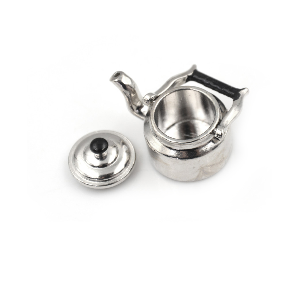 Metal Tea Kettle/Tea Pot Classic Pretend Play Furniture Toys For  Kitchen Accessory Wholesale 1:12 Dollhouse Miniature