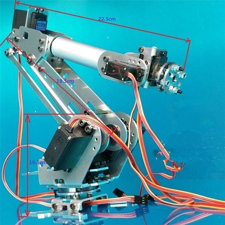 цена 6 DOF CNC aluminum robotic arm frame ABB industrial robot model 6-asix robot arm 6 servos онлайн в 2017 году