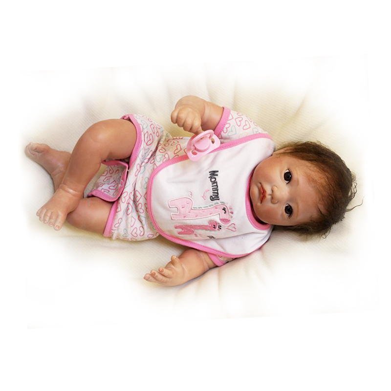 Curved Limbs Dolls with Clothes 20 Soft Silicone Reborn Doll Baby Stuff For Children Fashion Birthday Gifts Bonecas Newborn