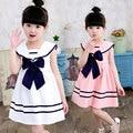 2017 Летом девушка детская одежда марка хлопок студент Темно-слово платье для малышей девушки детская одежда платья платье