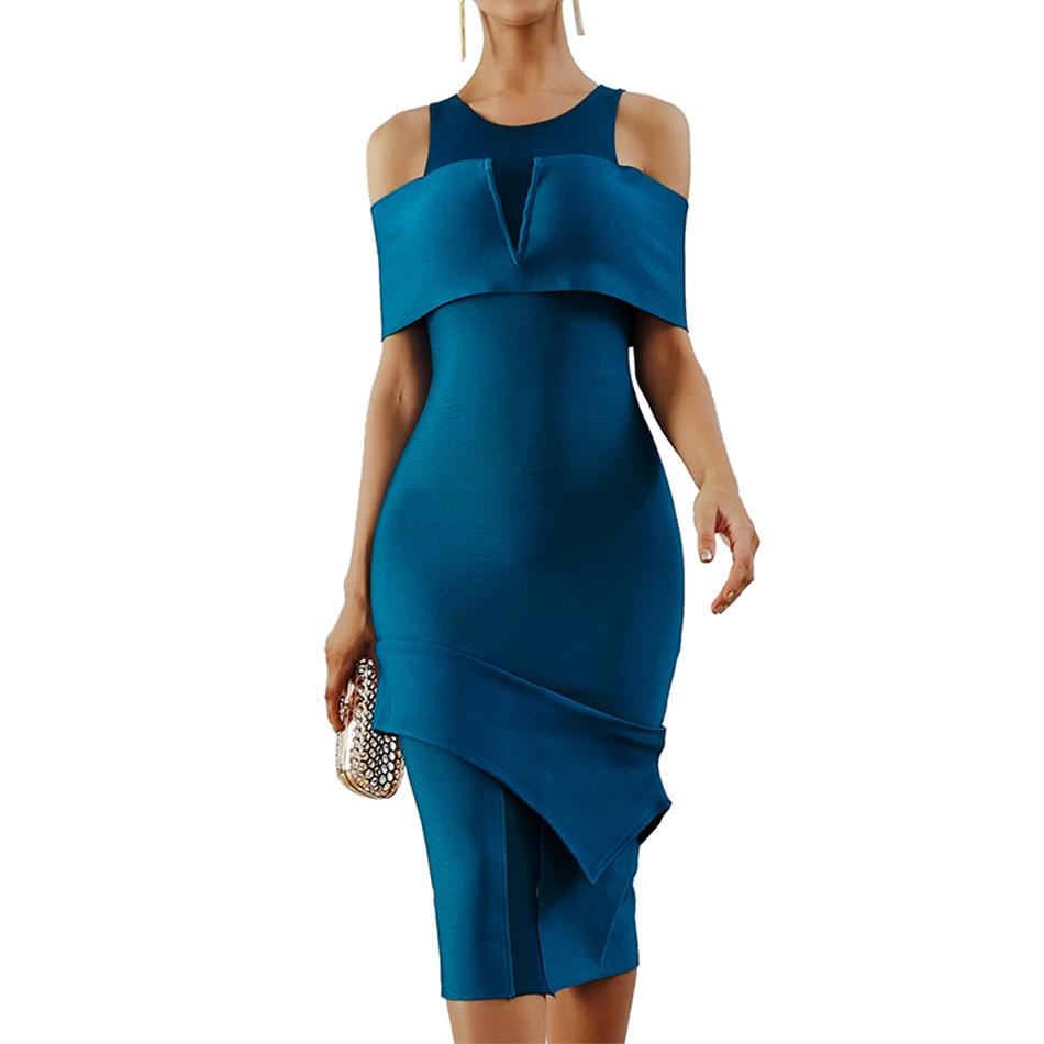 Seamyla Brand Quality Runway Dress Women Summer Bandage Dresses Sexy New Fashion Bodycon Celebrity Party Dress