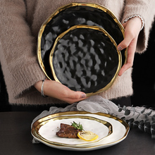 ONEISALL Dinner Plate Ceramics Microwave and Dishwasher Safe 6 Inch Dish Steak Bread Salad Plates Porcelain Set France Style