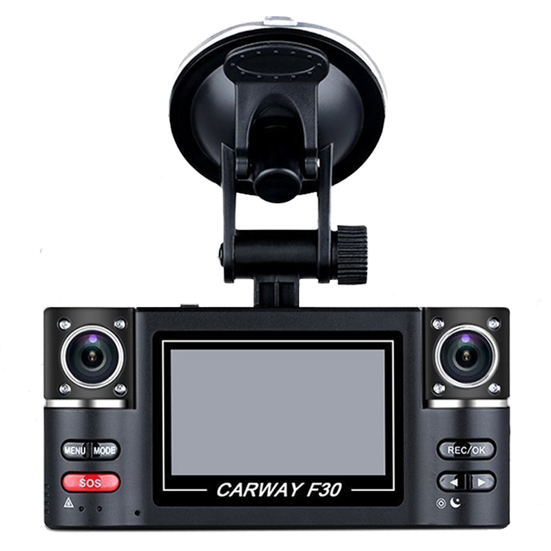 2.7 TFT LCD HD 1080P Dual Camera Rotated lens Car DVR Vehicle Digital Video Recorder Night Vision Rear view Dash Cam ...