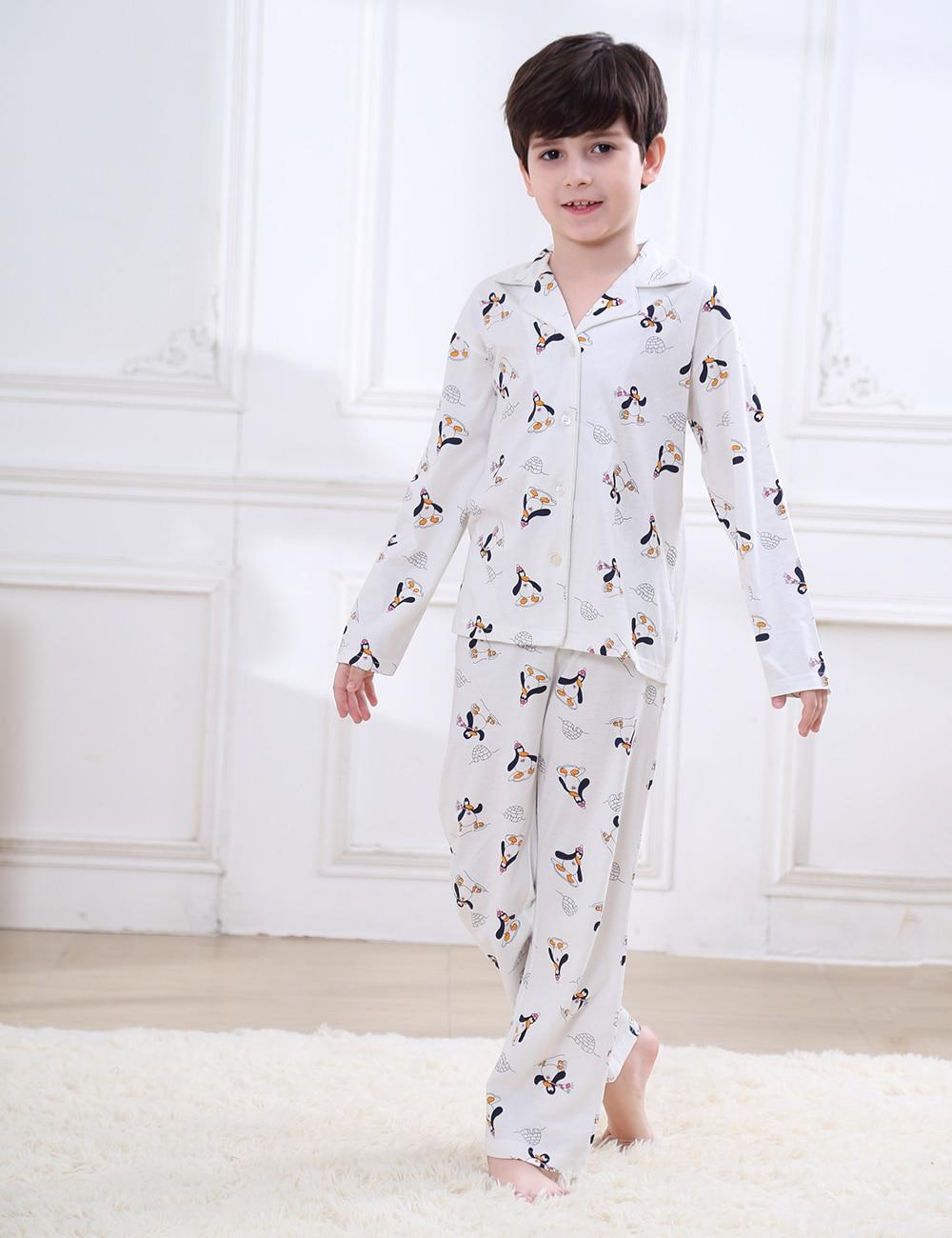 Skating Snowman Sits Girl Cotton Boys-Girls Sleepwear Pajama 2 Pcs Set