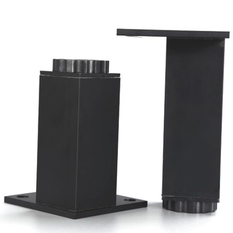 New Various height 100% black aluminum alloy furniture legs adjustable metal leg kitchen cabinets wardrobe TV cabinets sofa leg