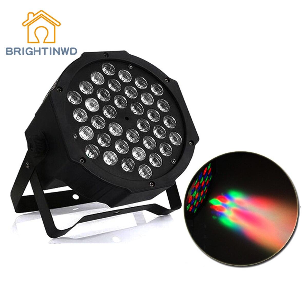 BRIGHTINWD мини led36 прожекторы Пластик Par света Свадебные оборудования сценического освещения Home Entertainment атмосферу света