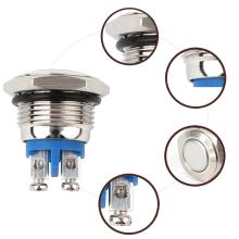 Металлическая кнопка практичный водонепроницаемый переключатель 16 мм профессиональная кнопка запуска звукового сигнала мгновенный никелированный латунный