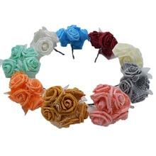 30 adet/grup 4 cm PE Köpük Gül Çiçek Buketi Yapay Gül Çiçek El Yapımı DIY Düğün Ev Dekorasyon Şenlikli & Parti malzemeleri