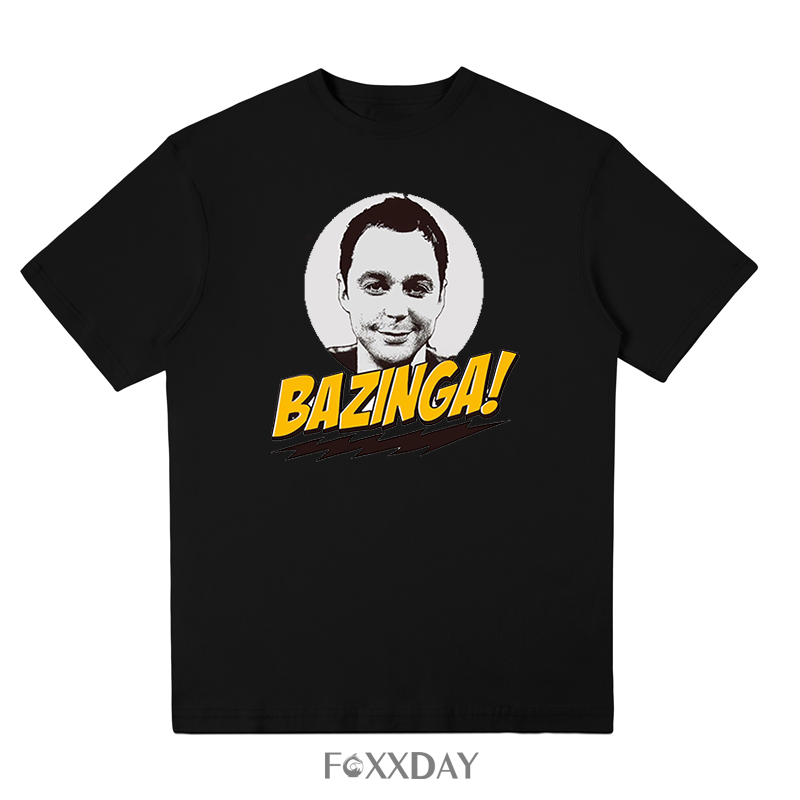 The big bang theory print T SHIRT BAZINGA T-shirt Funny sheldon Cotton short-sleeve Tee Shirt new summer men Tops Free shipping