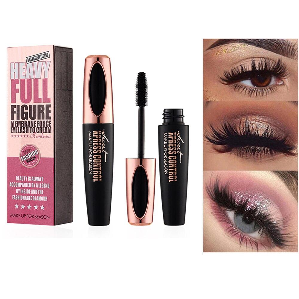 d3c00ff729e 2019 4D Silk Fiber Lash Mascara Waterproof Rimel 3d Mascara For Eyelash  Extension Black Thick Lengthening Eye Lashes Cosmetics