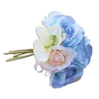 Individuality Rose Moth Orchid Camellia Artificial Flower Bouquet for Wedding Office Decoration
