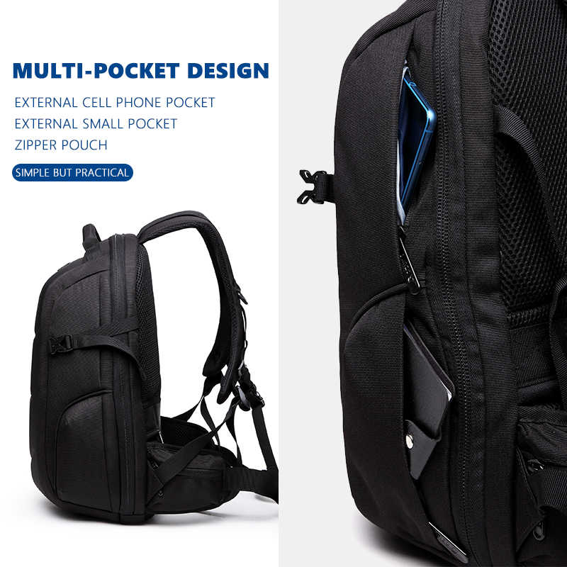 Ozuko Merek Tahan Air Oxford Ransel untuk Remaja 15.6 Inch Laptop Ransel Pria Fashion Sekolahnya Pria Perjalanan Tas Mochilas