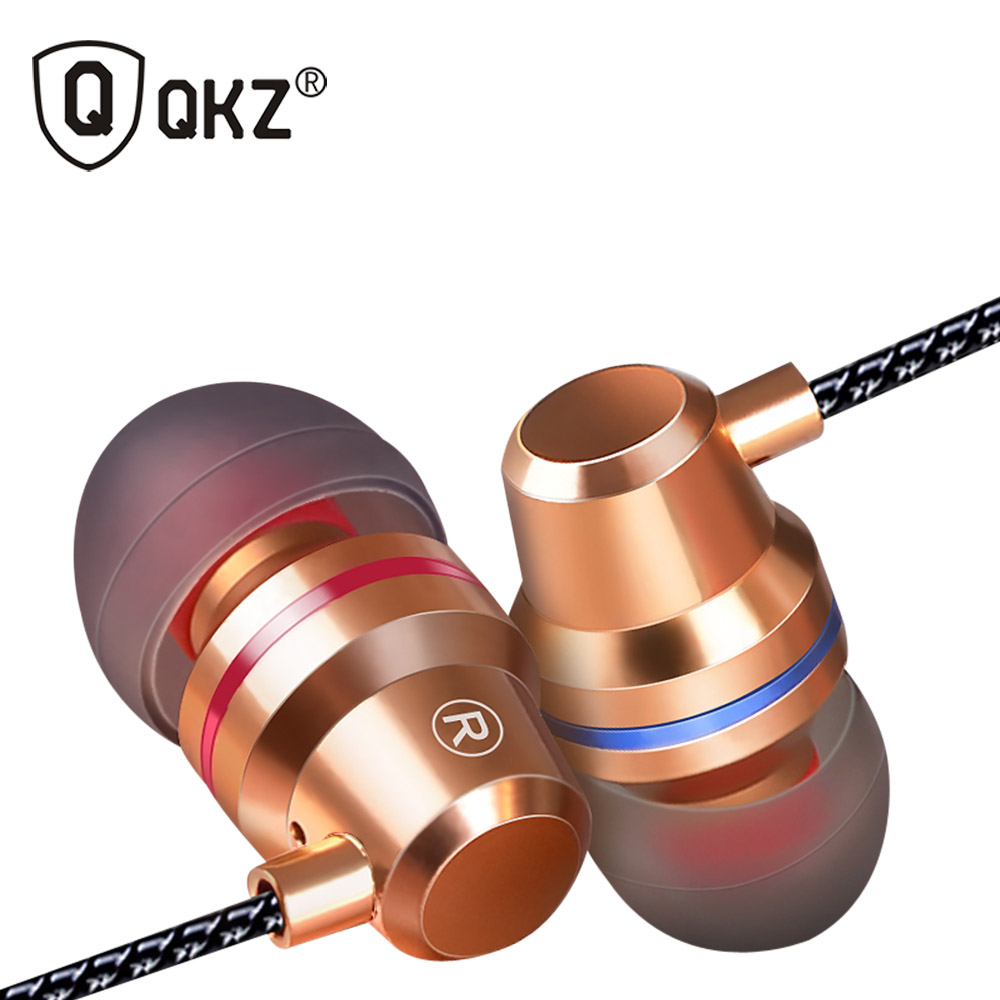 QKZ DM1 Metal Earphones with Mic Ecouteur Earbuds for Phone Computer Gaming MP3 Casque Audio Fone de Ouvido Cuffie Audifono
