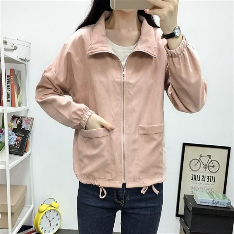 Jackets   Women New Fashion Bomber   Jacket   Women's   Basic     Jacket   Casual Thin Windbreaker Female Outwear Women Coat HC067