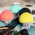 2016 Wireless Bluetooth Mini Speaker Mushroom Waterproof Silicone Suction Handsfree Holder Music Player for iPhone Android Pink