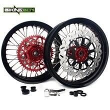 BIKINGBOY 17 «колесные диски ступицы тормозные диски набор звездочек для Honda CRF 250 R 04-13 CRF 450 R 04-12 CRF250X 04-14 CRF450X 04-13