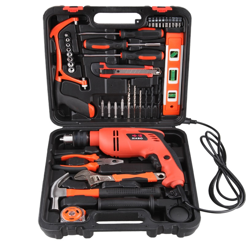 13MM impact drill multi - function electric drill hammer socket wrench sets household electric hardware tools urijk 1set best quality multifunctional electric drill impact drill household electric woodworking hardware hand tool sets