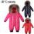 Inverno Romper Do Bebê Cabelo Real Zíper 2016 Russia-30 Macacão de Bebê Da Marca Roupas Snowsuit Jumpsuit Quente Macacão de Inverno das Crianças