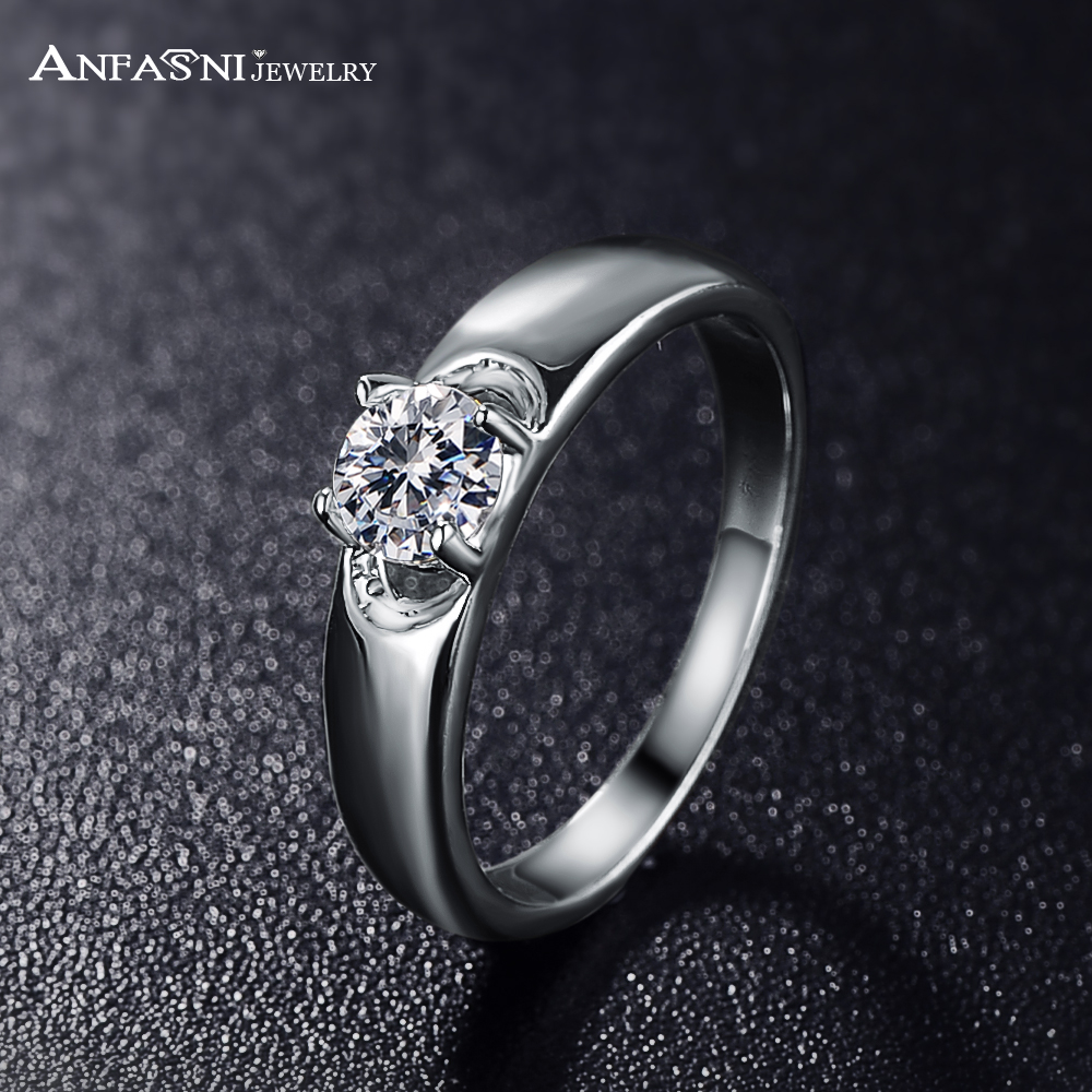 Buy Anfasni 2017 New Fashion Women Rings Real Silver Color Simple Style Aaa