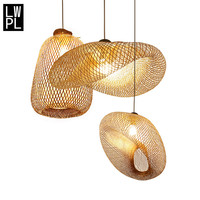 Handmade Bamboo Chandeliers Lights Lustres Pendentes Asian Dining room Hanging Lamp Suspension LED Luminaire Lighting Led