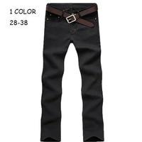 Hot Sale 2015 Korea Style Black Men S Straight Slim Fit Skinny Design Denim Jeans Mens