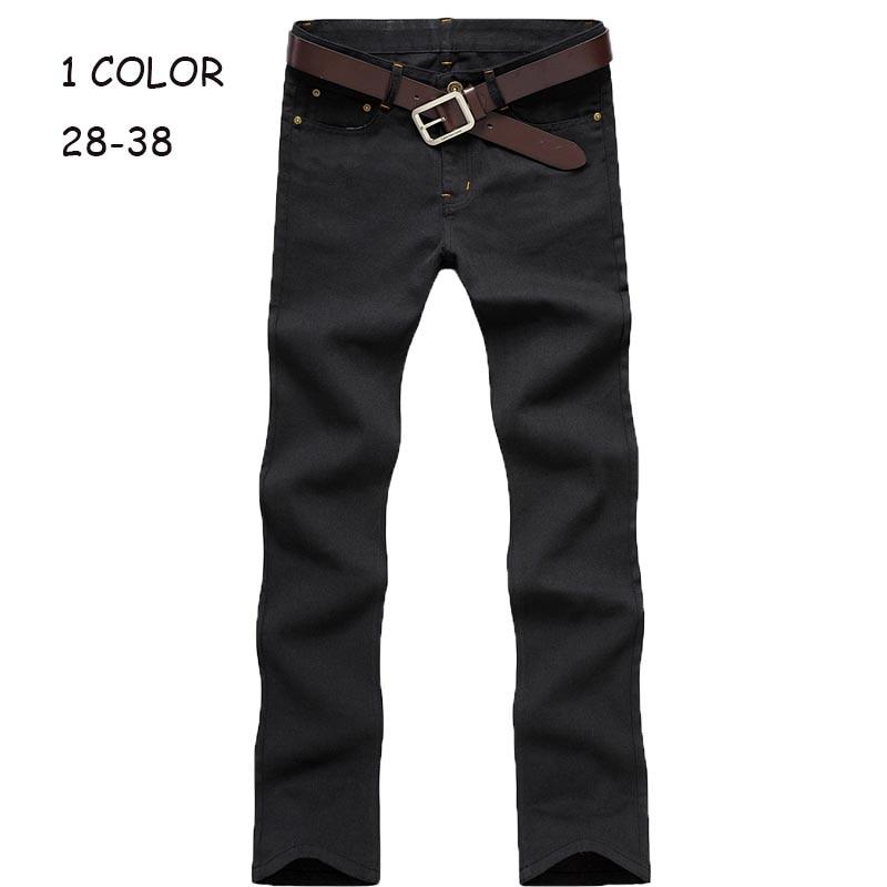 Hot sale 2016 Korea Style Black men's straight slim fit skinny design denim jeans;mens robin jeans 2015 cotton jean homme 21R
