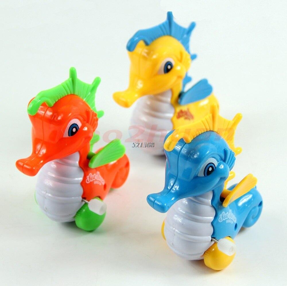 OOTDTY 2017 Lovely Hippocampus Cartoon Animal Wind up Clockwork Toys Funny For Children Kids MAR17