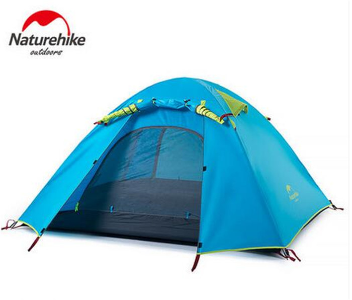 NatureHike 2/3/4 Person Camping Tent Double Layers Aluminum Rod 3 Season Outdoor Hiking Travel Play Tent Rainproof outdoor camping hiking automatic camping tent 4person double layer family tent sun shelter gazebo beach tent awning tourist tent