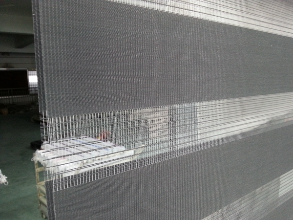 2015 New 100 Polyester Translucent Roller Zebra Blinds In Dark Grey Custom Made Window Curtains