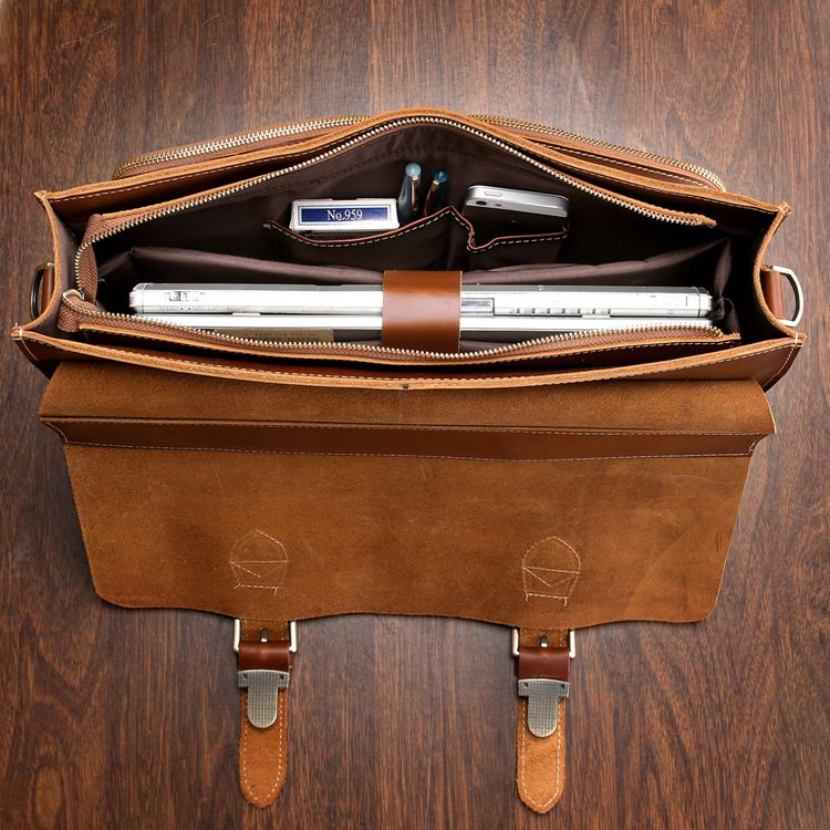 1ceac5189177 US $190.99 |J.M.D Vintage Leather Top Handbag Men's Briefcases Large  Capacity Leather Laptop Bag For Business Man 7105X 1-in Briefcases from  Luggage & ...
