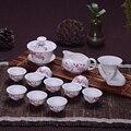 14 шт чайный набор для путешествия китайская портативная керамическая костяная чайная чашка Gaiwan чайная чашка из фарфора чайная чашка набор ...