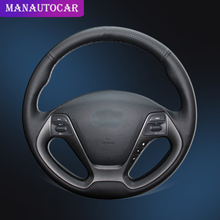 Car Braid On The Steering Wheel Cover for Kia K3 2013 K2 Rio 2015 2016 Ceed Cee'd 2012-2017 Forte Koup Forte5 2014-2018 Auto
