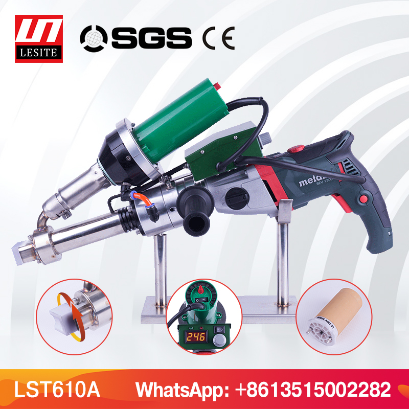 Plastic extrusion welder HDPE welder PP plastic welding extruder machine plastic welding gun extrusion tool extrusion type plastic plants watering can kettle ivory 250ml