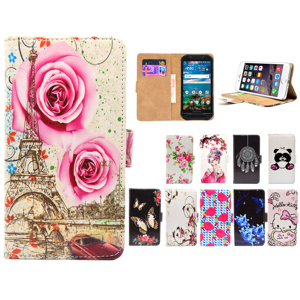 finest selection 04e66 317c2 Higt quality Cartoon Flip pu leather Phone Cases Cover For Kyocera ...